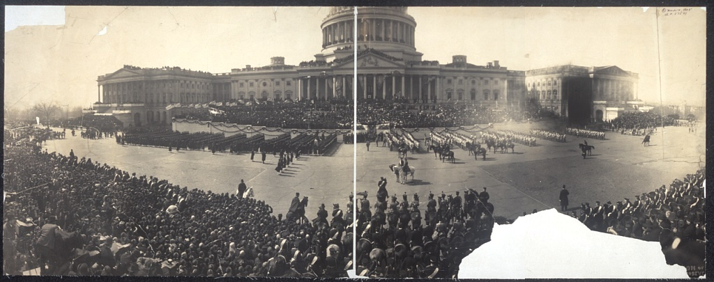 The Capitol during the inauguration of Theodore Roosevelt in 1905.