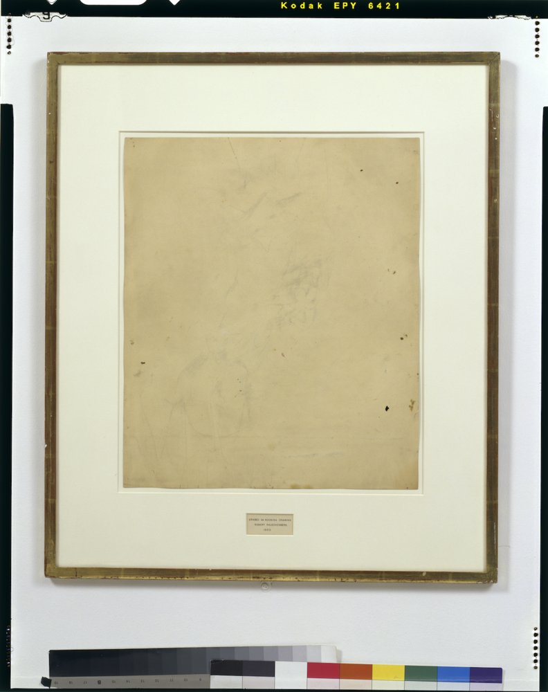 Robert Rauschenberg, Erased de Kooning Drawing 1953 San Francisco Museum of Modern Art, purchase through a gift of Phyllis Wa