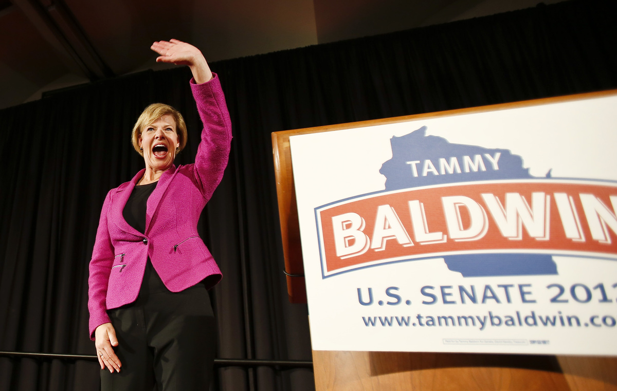 Rep. Tammy Baldwin (D-Wis.) beat Republican Tommy Thompson for Wisconsin's open U.S. Senate seat on Tuesday, becoming the nat