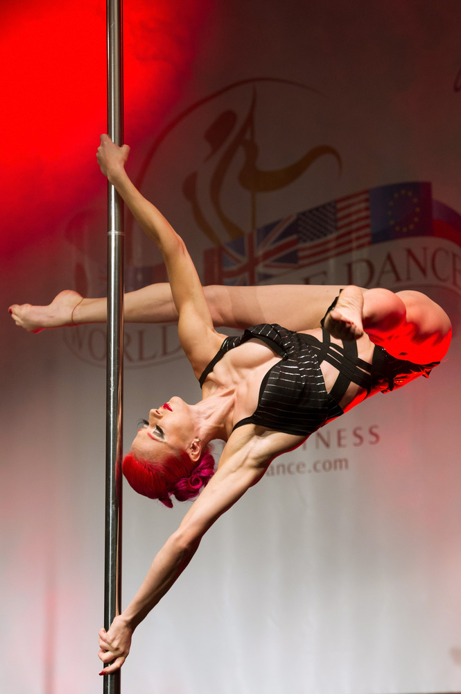 ZURICH, SWITZERLAND - NOVEMBER 10:  A competitor participates at the World Pole Dancing Championship 2012 held at the Volksha