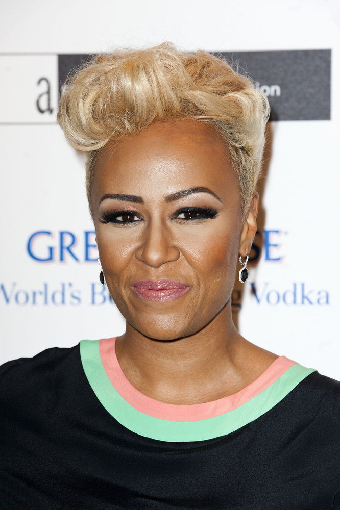 Emeli Sande attending the Grey Goose Winter Ball, to benefit the Elton John Aids Foundation, at Battersea Power Station in Lo