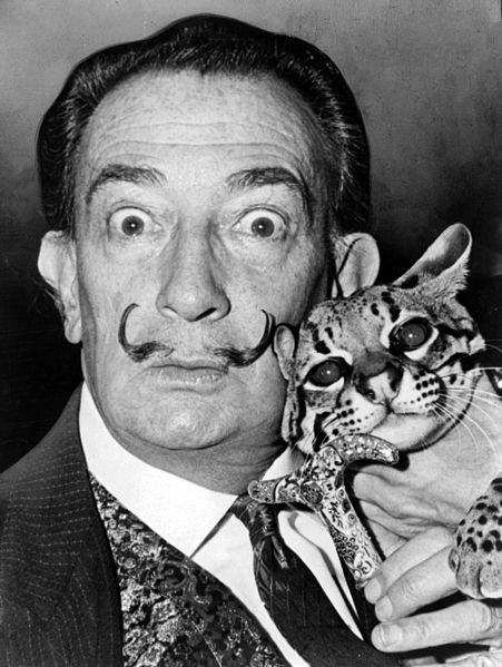 Need we say more?  Image: Salvador Dali with ocelot and cane taken in 1953.