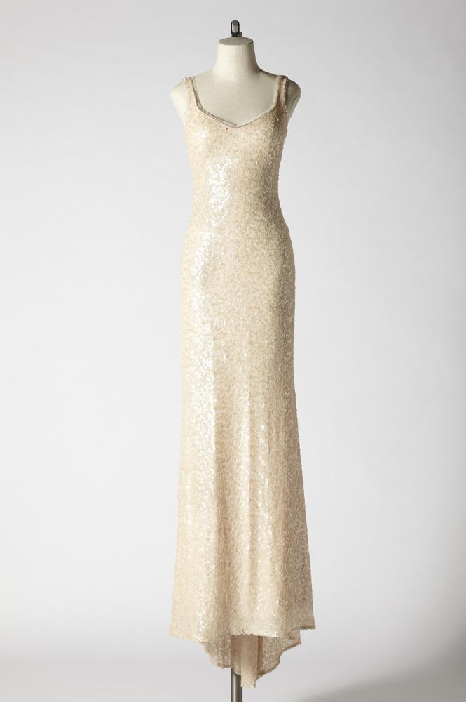 Sequin gown, $1,000.