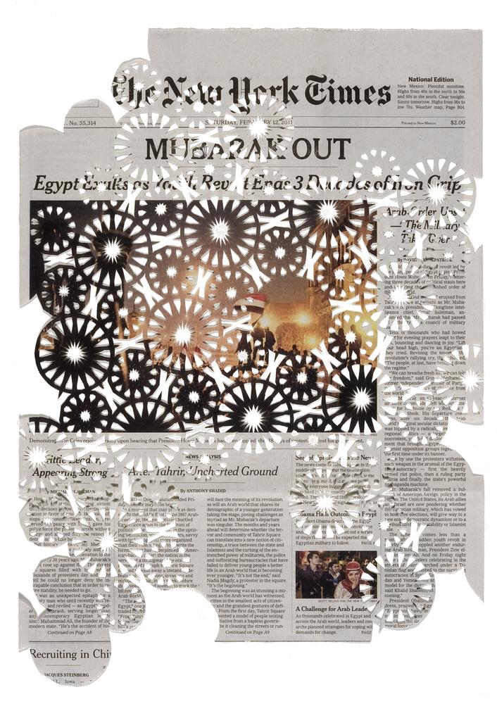 2.12.11, newspaper, 16 x 11.5 in