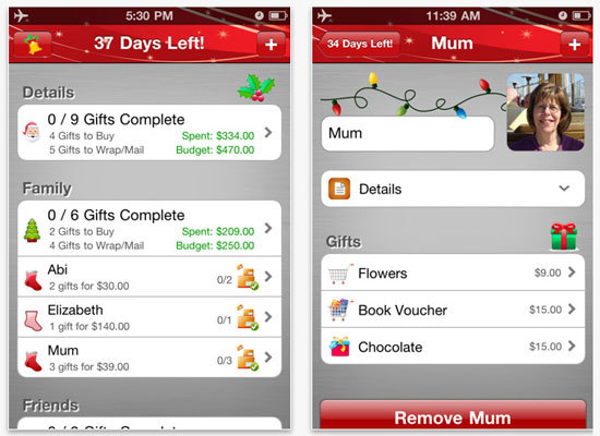 <em>A smartphone app that organizes your gift list and keeps an eye on your budget</em>  Ditch that coffee-stained list you s