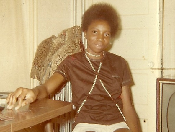 Mom looking Afro-tastic during her college days.