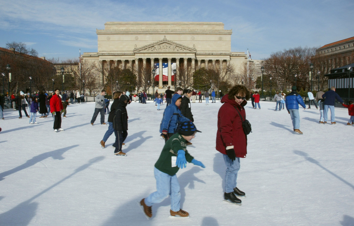 D.C.'s most popular rink, this National Mall attraction tends to be filled from opening in mid-November through the holiday s