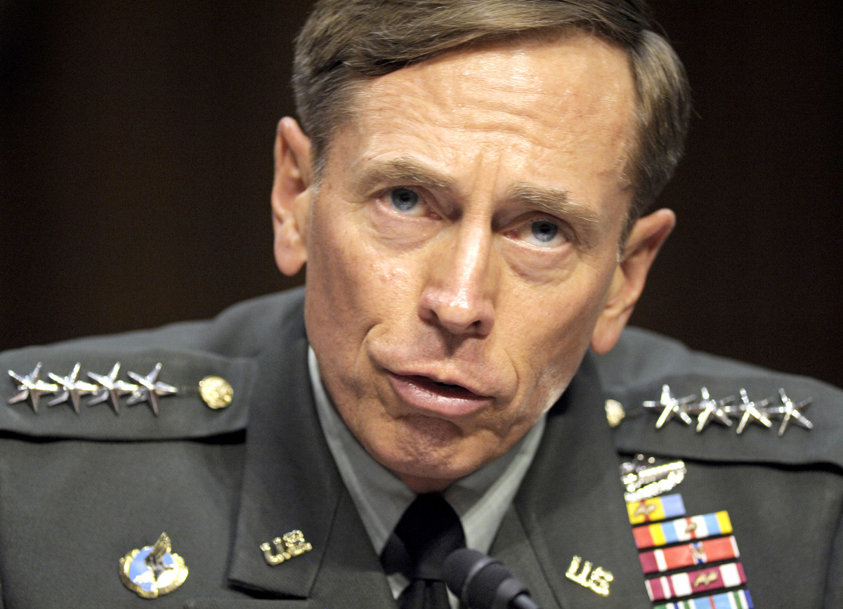 Petraeus was CIA director before resigning on Nov. 9 after being caught in a sex scandal with his biographer, Paula Broadwell