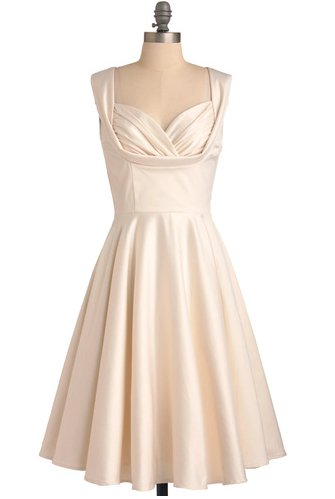 "We're visualizing this dress in a quirky yet elegant backyard wedding. It's a steal at $163, available on <a href=""http://www"
