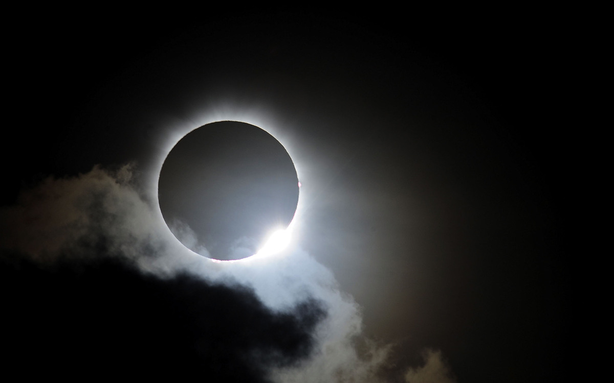 PALM COVE, AUSTRALIA - NOVEMBER 14:  Near totality is seen during the solar eclipse at Palm Cove on November 14, 2012 in Palm