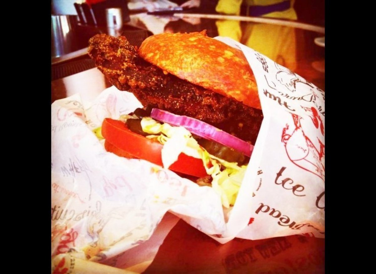 """Customers love our popular """"Chickety Split"""" sandwich at the Red Rooster's sister stand, <a href=""""http://redroosterharlem.com/"""