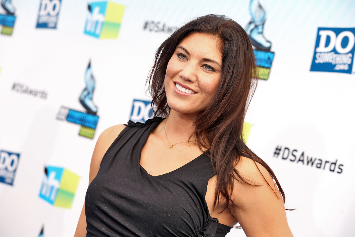 Olympic soccer player Hope Solo arrives at the 2012 Do Something Awards at Barker Hangar on August 19, 2012 in Santa Monica,