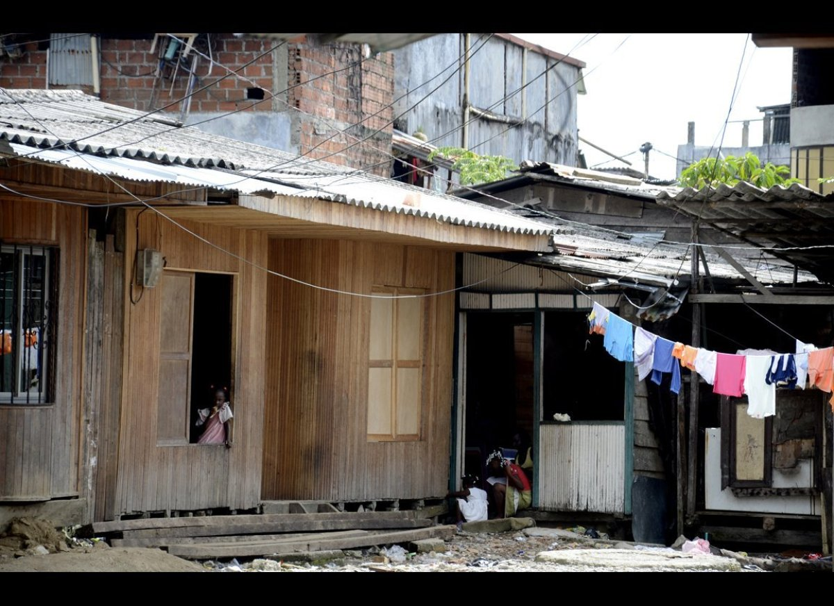The La Playita neighborhood of Buenaventura, Colombia, May 8, 2012. The area is primarily home to people displaced by the vio