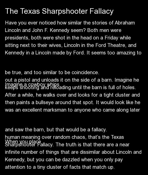 Have you ever noticed how similar the stories of Abraham Lincoln and John F. Kennedy seem? Both men were presidents, both wer