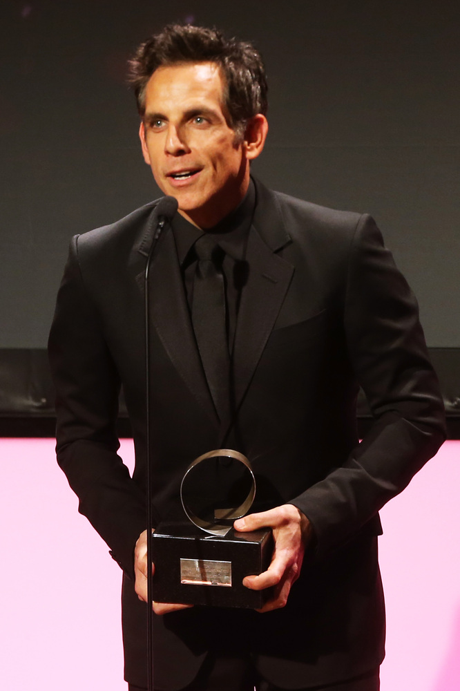 BEVERLY HILLS, CA - NOVEMBER 15:  Honoree and actor Ben Stiller accepts his award onstage during the 26th American Cinematheq