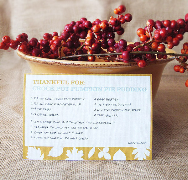 "Keep track of all your yummy Thanksgiving recipes with these colorful cards.  (Photo by <a href=""http://designeditor.typepad."