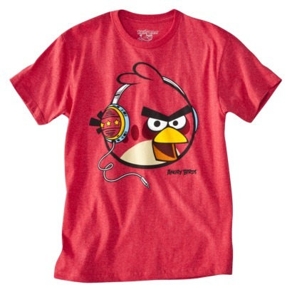 """Your games-obsessed guy friends will love this bright Angry Birds <a href=""""http://www.target.com/p/angry-birds-men-s-graphic-"""