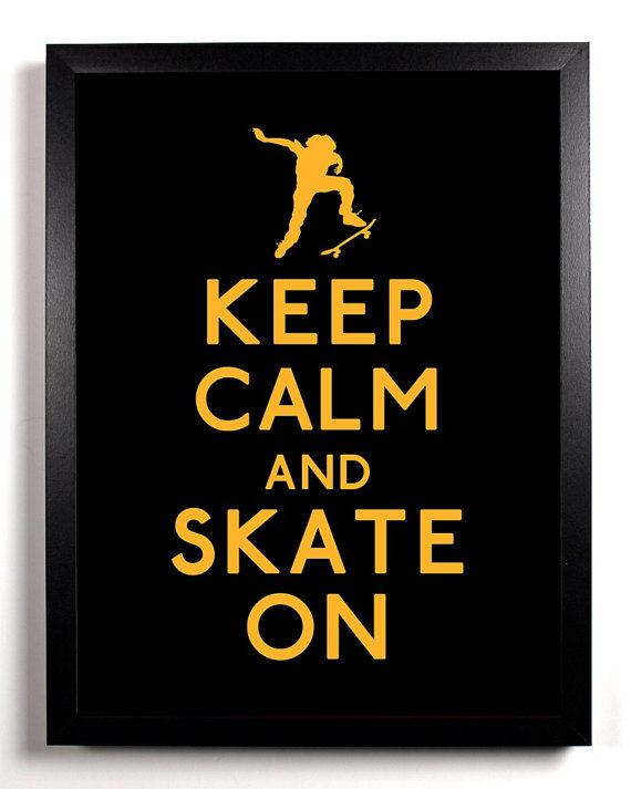 """Your skater friends will love to decorate their room or locker with this bold """"Keep Calm And Skate On"""" <a href=""""http://www.et"""