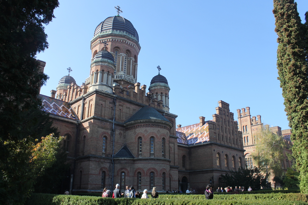 In this photo taken on Oct. 21 2012, the UNESCO-protected Chernivtsi Universtiy is seen in Chernivtsi, a city of 250,000 in s