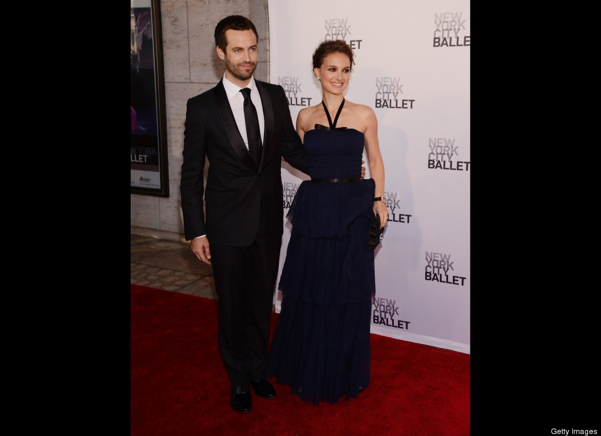 """Natalie Portman and husband Benjamin Millepied <a href=""""http://www.people.com/people/article/0,,20618646,00.html"""">tied the kn"""