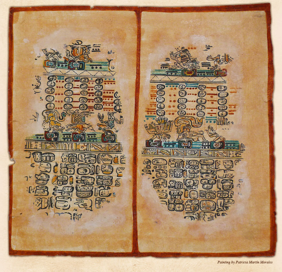 The ancient Maya were accomplished observers of the sky. This image shows Maya animal constellations found in the Paris Codex