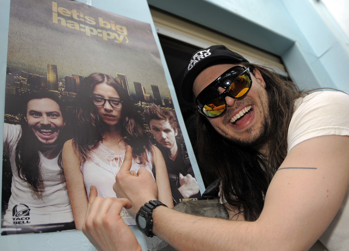 COMMERCIAL IMAGE - In this photograph taken by AP Images for MySpace, Andrew WK is seen at the MySpace and Fox Digital Entert