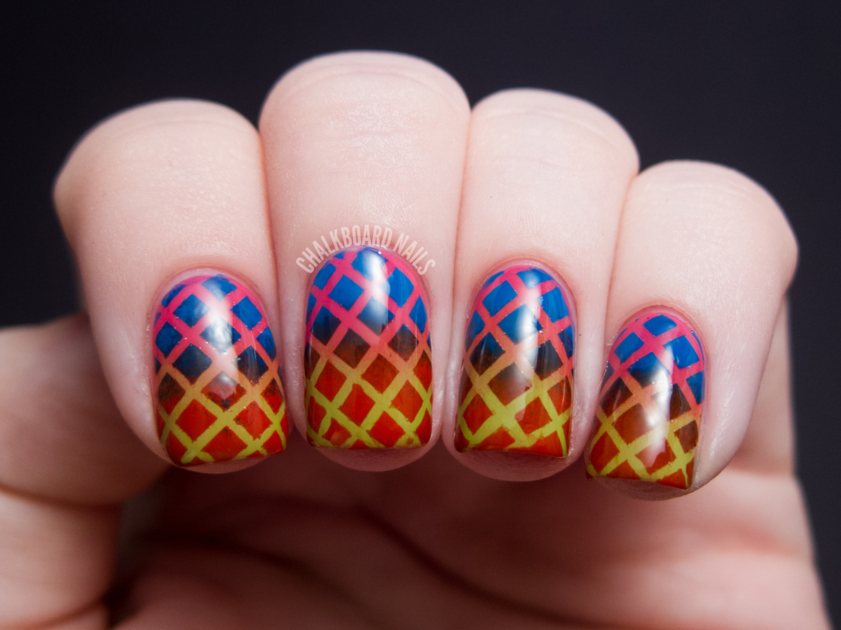 """""""I did this manicure using colors from the new <a href=""""http://www.temptalia.com/china-glaze-cirque-du-soleil-worlds-away-col"""