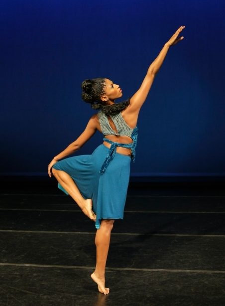Alvin Ailey American Dance Theater's Jacqueline Green in Kyle Abraham's <em>Another Night</em>. Photo by Paul Kolnik