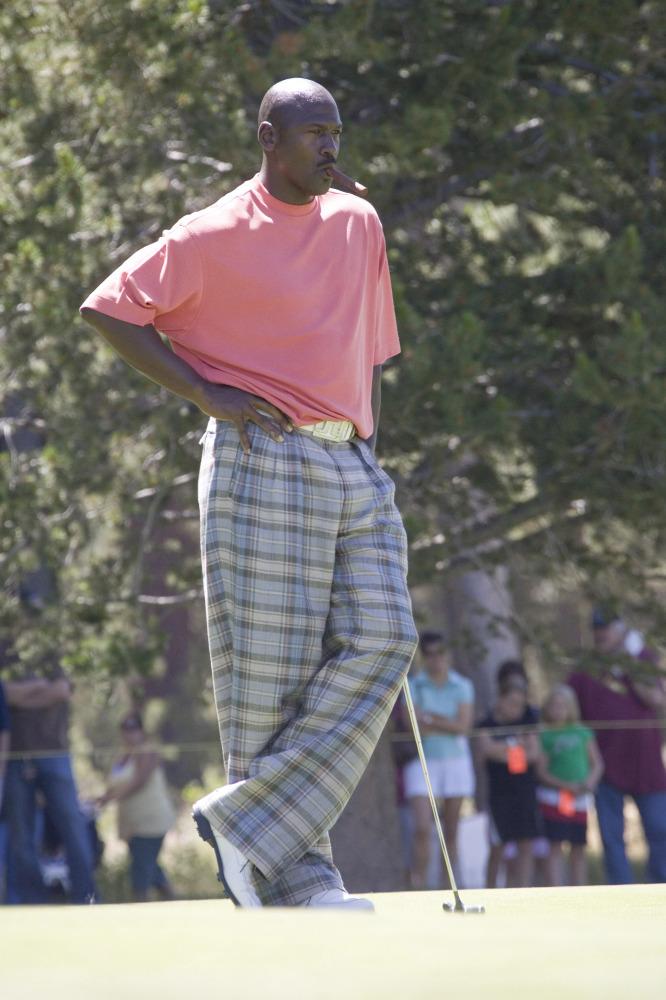 Michael Jordan plays at the American Century Celebrity Golf Tournament (Photo by Michael Bezjian/WireImage)