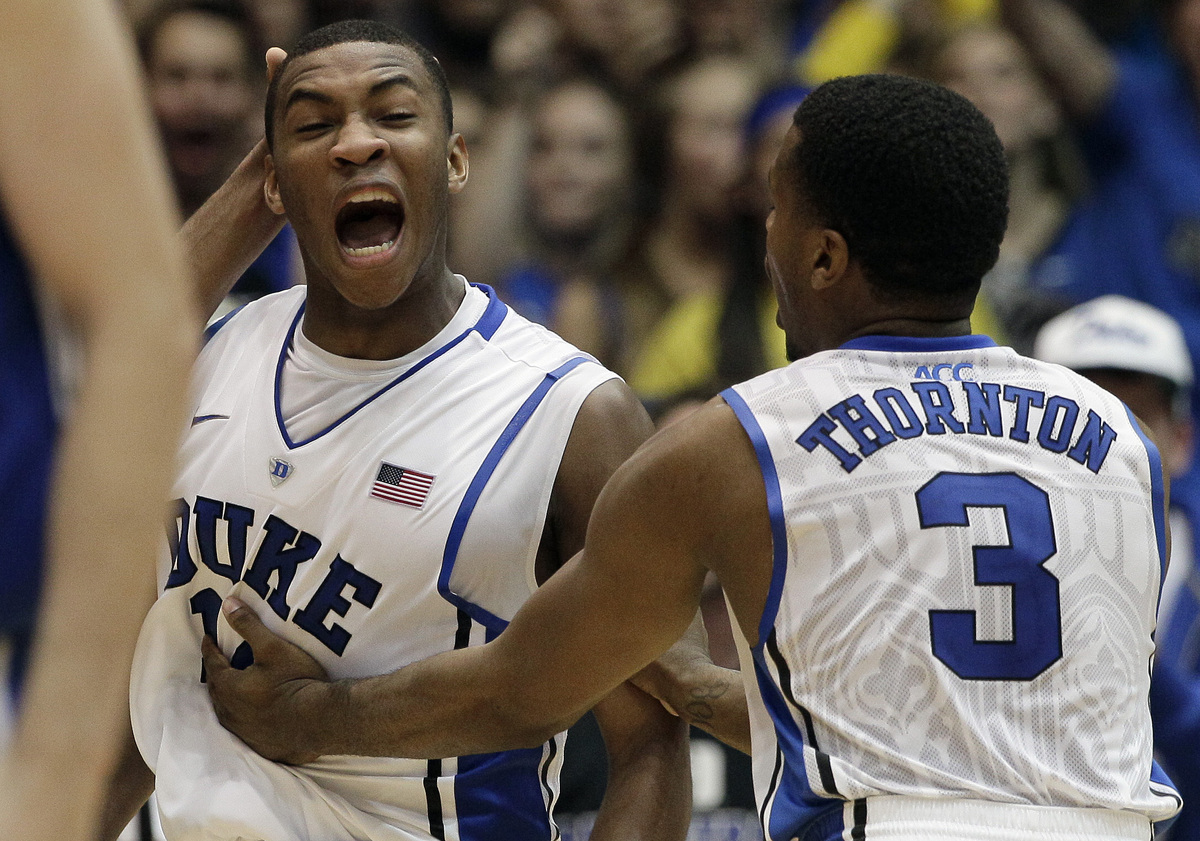 If Indiana is the legit No. 1 team in the nation, there's no question that Duke is the No. 2. It might be like that, or vice