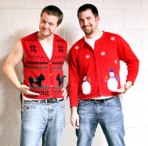 """The <a href=""""http://uglysweater.su2c.org/"""">""""Ugly Sweater Campaign"""" </a>invites supporters to sport their unbecoming tops to r"""