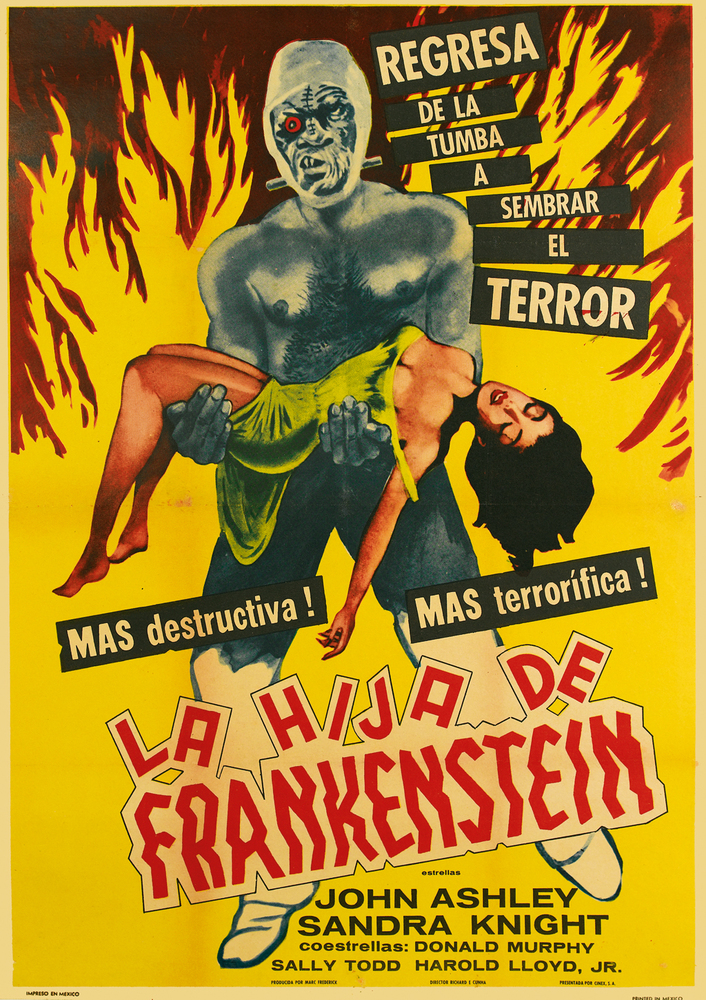La Hija de Frankenstein, by an unknown designer, Mexico, 1958. Estimate $200 to $300.