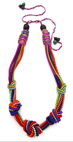 """<a href=""""http://www.shopsequencecollection.com/products/5-knot-necklace"""">Sequence """"5 Knot"""" Necklace, $142</a>"""