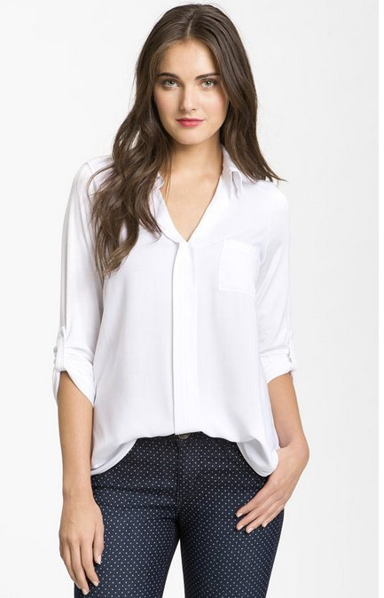"<a href=""http://shop.nordstrom.com/s/pleione-mixed-media-shirt/3307432?siteId=J84DHJLQkR4-FZstsr80MD4Q8b473ZC6XA"">Shop.nordst"