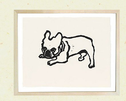 """<a href=""""http://www.johnderian.com/collections/hugo-guinness-prints-small/products/sfhg_marks_dog-jpg"""">Mark's Dog, $440 </a>"""
