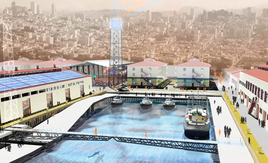 Bruner/Cott has proposed a San Francisco Public Market with a year-round farmers market, restaurants, spaces for arts educati