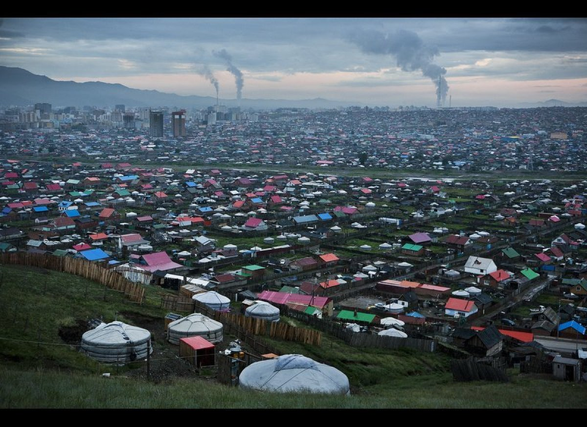 In Ulaanbaatar burning coal is a major contributor of particulate matter in the air. All of Ulaanbaatar's four power plants a