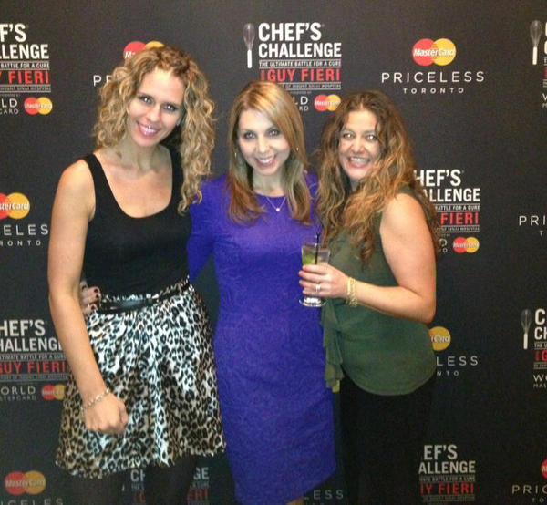The ladies and I at the Chef's Challenge on Saturday evening in Toronto supporting Mount Sinai Hospital's fight for cancer. C