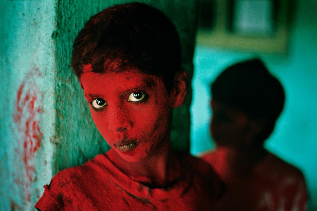 Boy at Ganesh Chaturthi festival, Mumbai, India, 1996  At the annual festival celebrating Ganesha, held in Mumbai (formerly