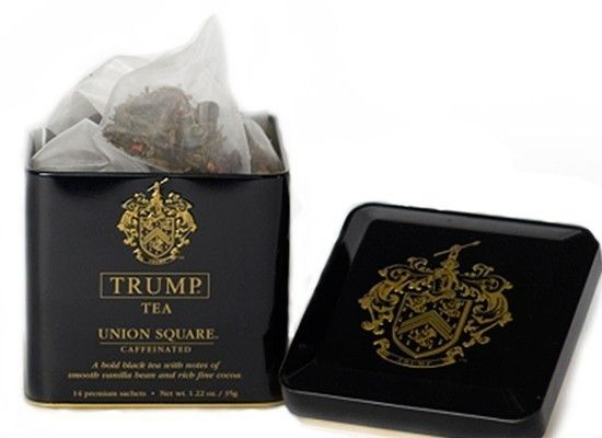 "Trump launched a line of premium teas priced at <a href=""http://www.luxist.com/2010/08/18/trump-launches-trump-tea/""> $12.95"