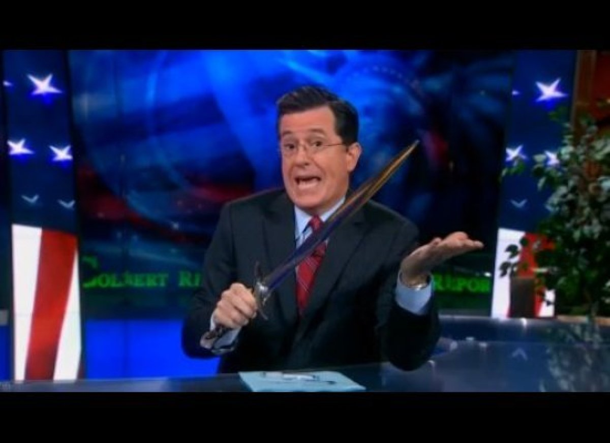 Stephen Colbert proves that he's the ultimate Tolkien geek and addresses the rumors that he's starring in <em>The Lord of the