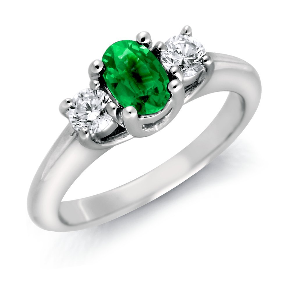 """For the nontraditional bride, <a href=""""http://lover.ly/image/236948"""">an emerald</a> (color, not cut!) engagement ring may be"""