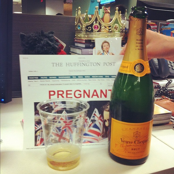 Celebrating the big news!