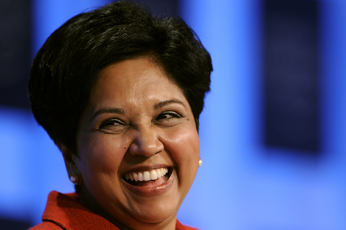 """CEO-to-employee pay ratio: 322:1  CEO: Indra K. Nooyi (Credit: <a href=""""http://www.payscale.com/ceo-income/fortune-50"""">Pay"""