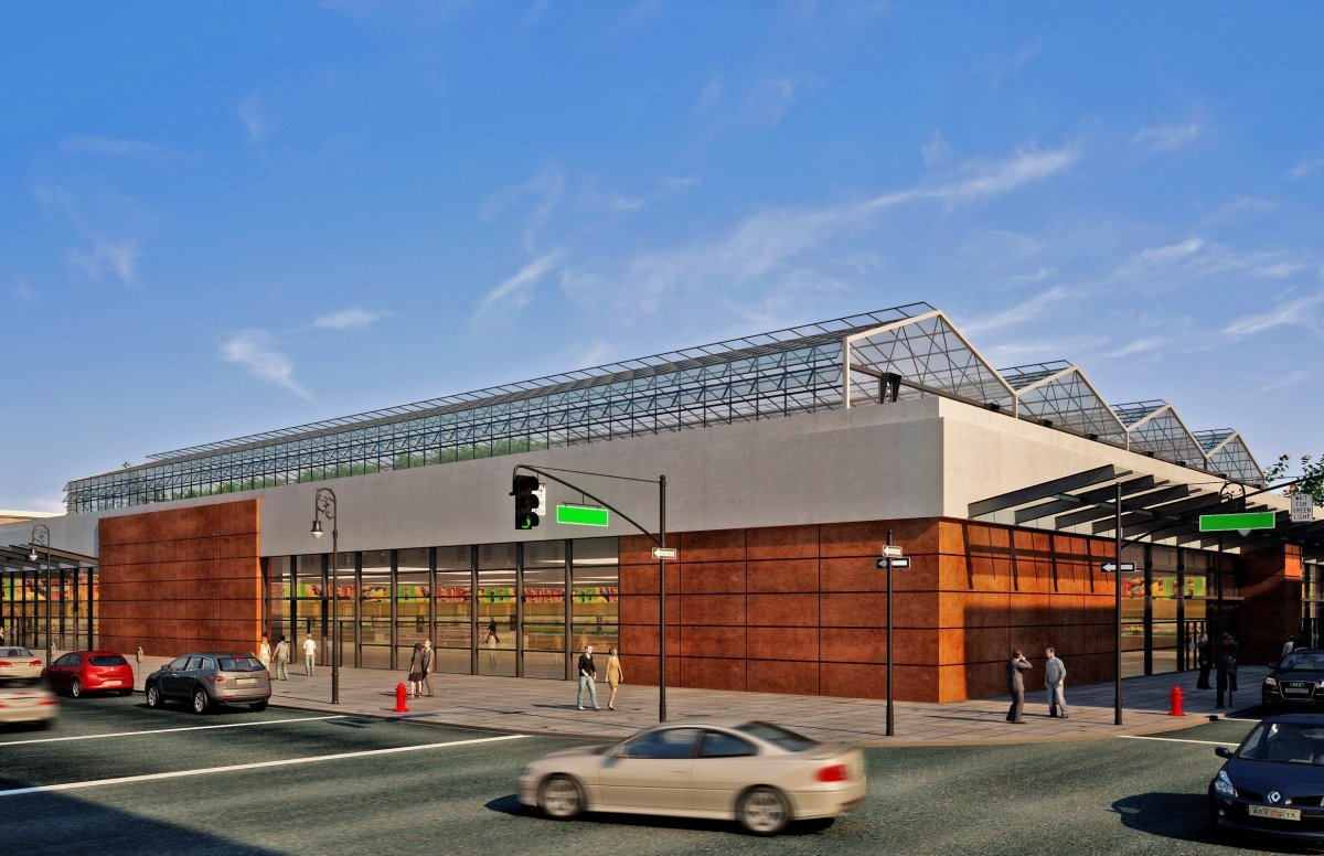 Brightfarms Greenhouses on top of grocery stores sell directly downstairs into the market reducing transport costs and emissi
