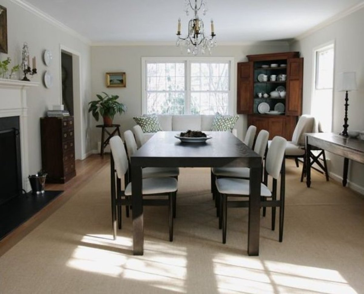 LIving room turned into dining room