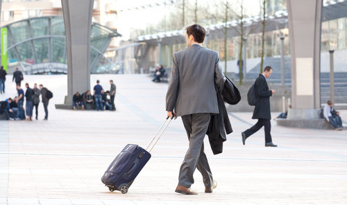 Business travellers are easy to spot, because they're dressed to the nines and sporting either a laptop bag, a mid-sized suit