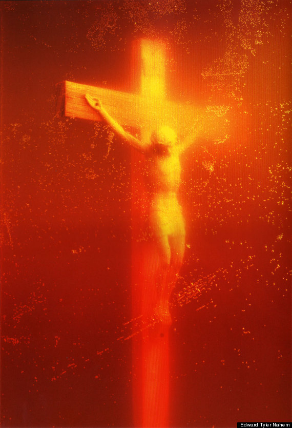 """""""Piss Christ,"""" Andres Serrano's 1987 pièce de résistance, was damaged by Christian protestors in France, who attacked the wor"""
