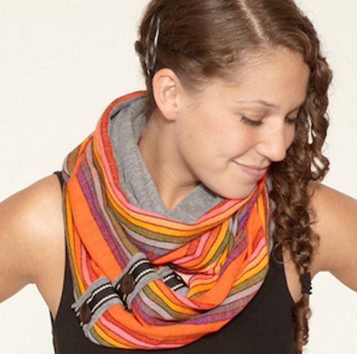 """Scarfetier Jacy Ceccarelli aims to make """"the best scarves on this side of Saturn,"""" and she's certainly coming close, with her"""