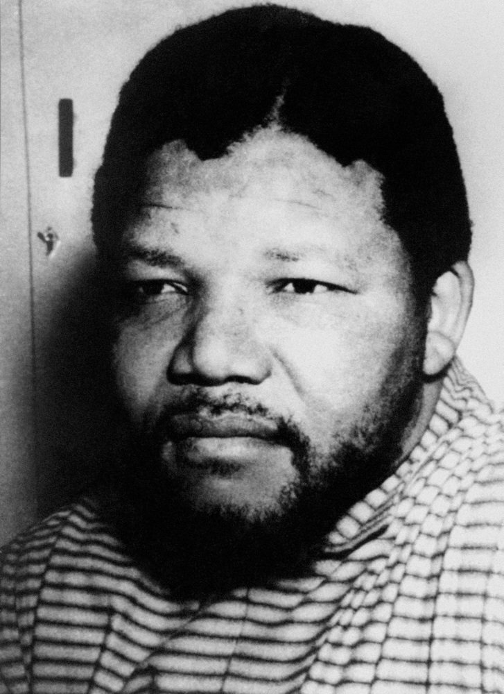 Nelson Mandela, a senior member of the African National Congress, in prison on Robben Island.
